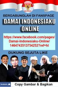 Bergabunglah di Fanspage Damai Indonesiaku Online