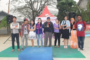 Peserta Lomba Seni Musik-Seni Suara dari SMAN 1 Sentajo Raya Kabupaten Kuantan Singingi -  Provinsi Riau