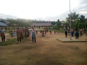 "Proses Tari ""Cahaya Ilahi"" Tari Masal Pembukaan MTQ ke 13 Kabupaten Kuantan Singingi (3)"