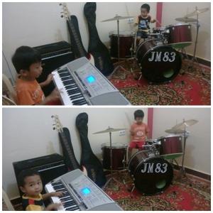 Violino Ridho Putra & Cello Yenroza Putra Latihan Musik (1)