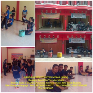 Proses Latihan Sanggar Seni Kuantan Mekar (SSKM)  di Kota Teluk Kuantan kab. Kuantan Singingi - Riau (2)