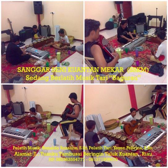 """Siswa Sanggar Seni Kuantan Mekar (SSKM) Latihan Musik Tari """"Bagurau """" copy"""